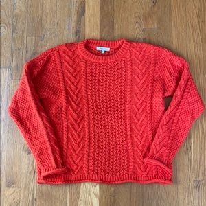 Madewell Neck Bright Red Sweater